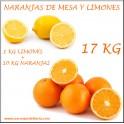 Naranjas 15 KG y 1 KG Limones